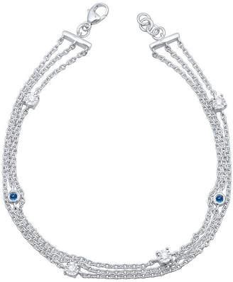 Marvel Universe Fine Jewelry By Diamond Accent Genuine Red Topaz Sterling Silver 7.5 Inch Tennis Bracelet