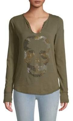Zadig & Voltaire Embellished Skull Cotton Tee