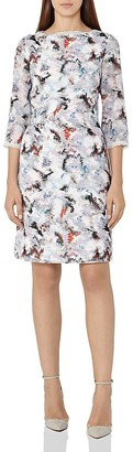 REISS Marianne Abstract Print Dress $340 thestylecure.com