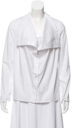 Ji Oh Long-Sleeve Button-Up Top