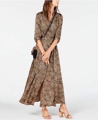 INC International Concepts Inc Petite Belted Leopard Shirtdress
