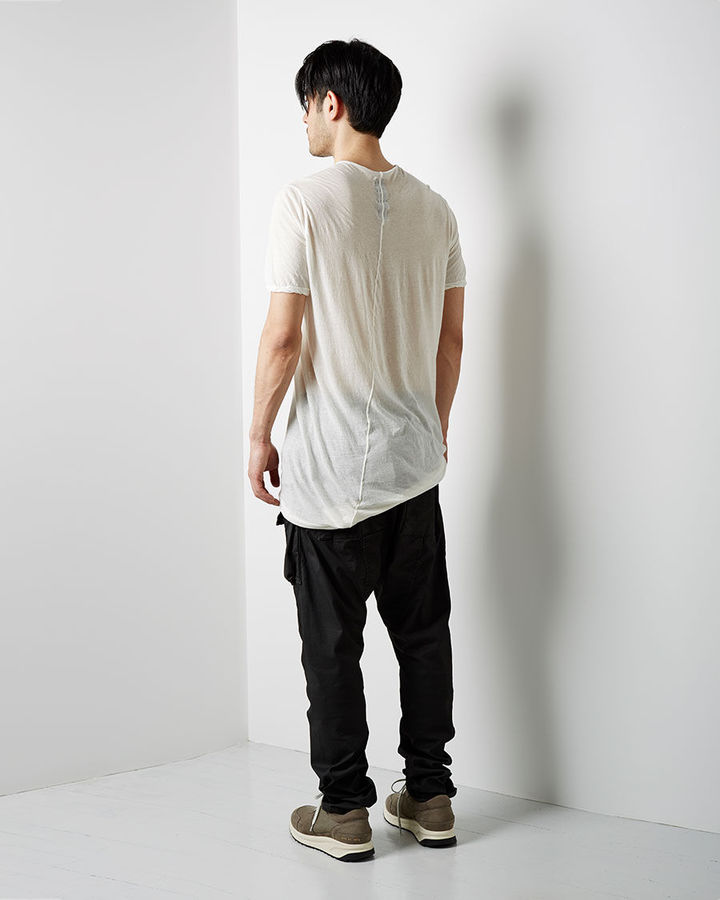 Rick Owens D RK SH D W by waxed cargo pant