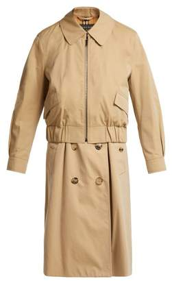Burberry Reconstructed Harrington Trench Coat - Womens - Beige