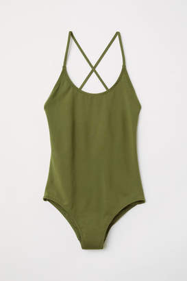 H&M Swimsuit with Lacing - Green
