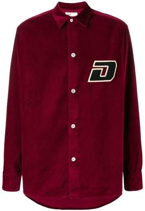 Drôle De Monsieur velvet button-down shirt