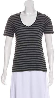The Lady & The Sailor Striped Short Sleeve Top Grey The Lady & The Sailor Striped Short Sleeve Top