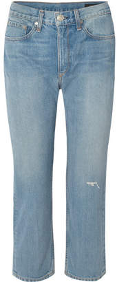 Rag & Bone Distressed Boyfriend Jeans - Mid denim