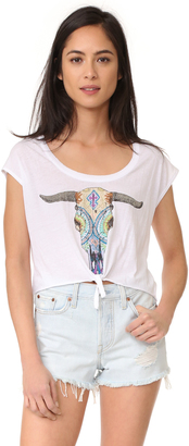 Chaser Painted Skull Tee $62 thestylecure.com