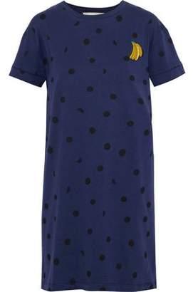 Être Cécile Appliquéd Printed Cotton-Jersey Mini Dress