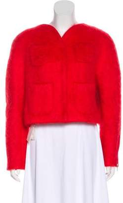 DELPOZO Knit Long Sleeve Jacket