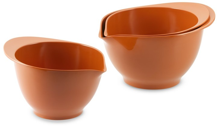 Williams-Sonoma Orange Melamine Bowls, Set of 3