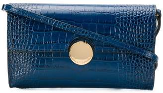 L'Autre Chose crocodile embossed crossbody