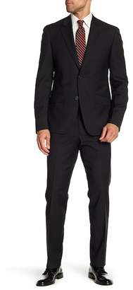 Nordstrom Rack Mini Check Trim Fit Wool Suit