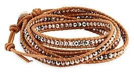 Chan Luu Women's Rose Gold Hematite Mix Wrap Bracelet