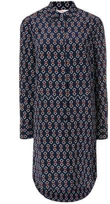 Tory Burch geometric print shirt dress