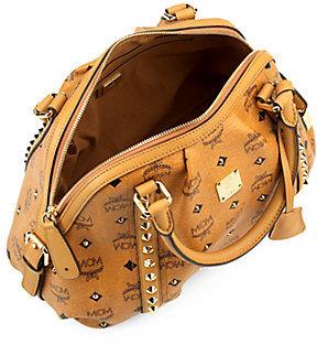 MCM Funk Rock Canvas & Leather Boston Bag