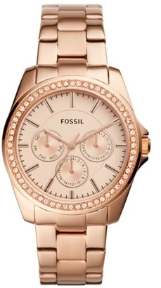 Fossil Janice Multifunction Rose Gold-Tone Stainless Steel Watch Jewelry