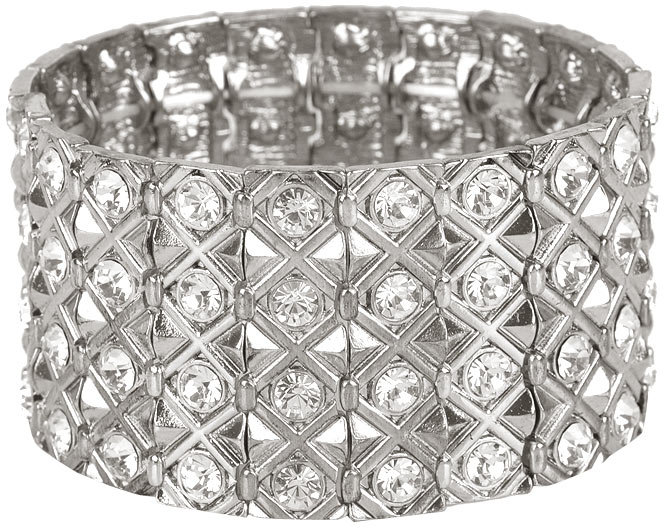 Faux Diamond Stretch Bracelet