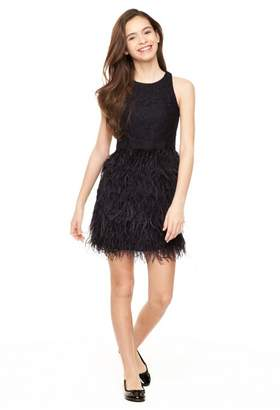 Milly Minis Lace Blaire Feather Dress