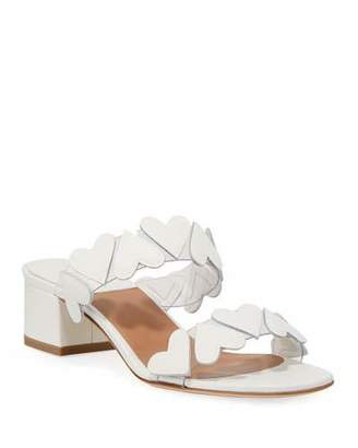 Laurence Dacade Taja Heart Leather Slide Sandals