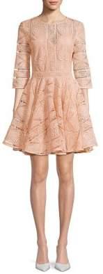 Maje Rilpiza Lace Fit--Flare Dress