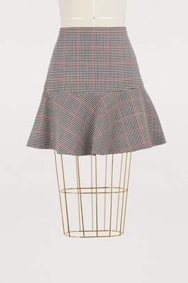 RED Valentino Windowpane skirt