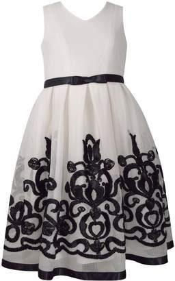 Bonnie Jean Girls 7-16 Embroidered Chiffon High-Low Hem Dress
