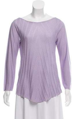 Armani Collezioni Striped Rib Knit Top