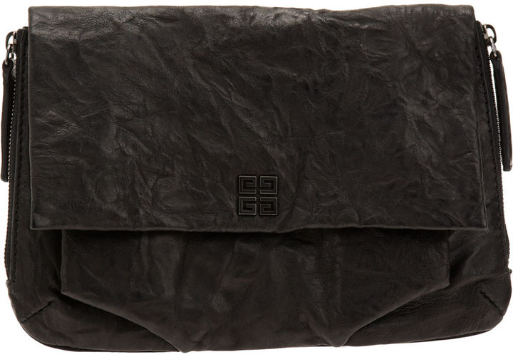 Givenchy Delia Pepe Leather Clutch - Black