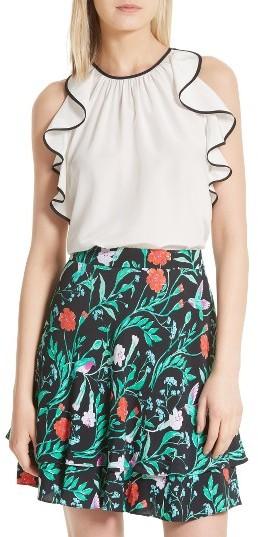 Women's Kate Spade New York Sleeveless Silk Ruffle Top