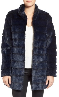 Petite Women's Laundry By Shelli Segal Grooved Faux Fur Coat $348 thestylecure.com