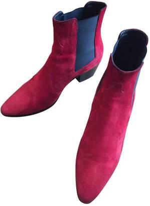 Saint Laurent Leather Western Boots