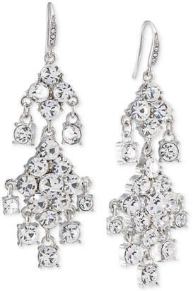 Carolee Silver-Tone Crystal Double-Drop Chandelier Earrings