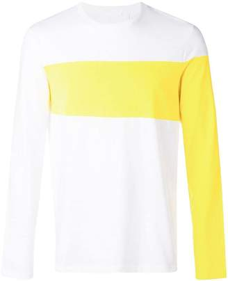 Helmut Lang long coloured arms T-shirt