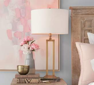 Pottery Barn Calvin Brass Lamp