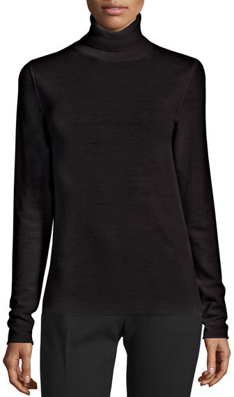 JOSEPH Joseph Wool Turtleneck Sweater, Black
