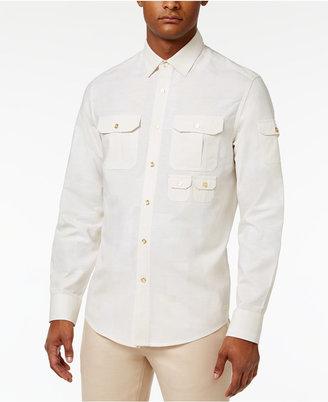 Sean John Men's Big & Tall Long-Sleeve Linen Flight Shirt $89.50 thestylecure.com