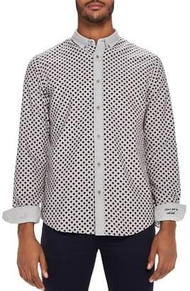 Scotch & Soda Diamond-Print Slim Fit Button-Down Shirt