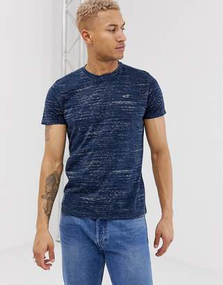 Hollister icon logo t-shirt in navy marl