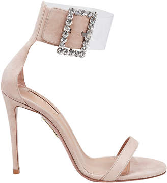 Aquazzura Casablanca Suede High Sandals