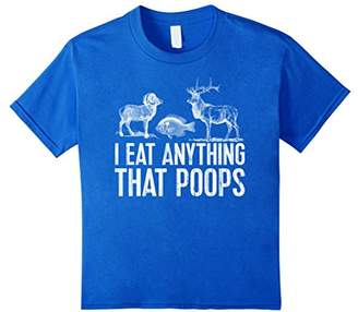 Funny Hunting Fishing Shirt - I EAT ANYTHING THAT POOPS