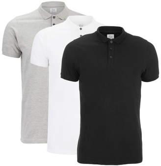 Smith & Jones Men's Casing 3 Pack Polo Shirt - Black/Grey/White