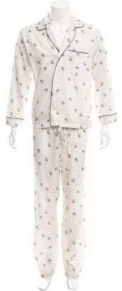 Alexander McQueen Skull Print Pajama Set