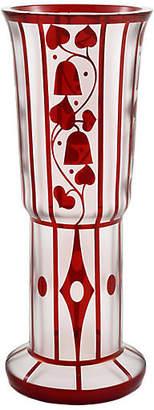 One Kings Lane Vintage Central European Trumpet Glass Vase - LR Antiques