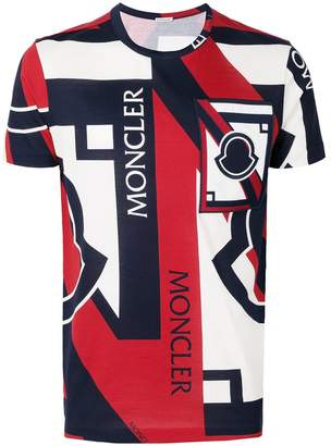 Moncler C x Craig Green tri-colour printed T-shirt