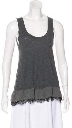Theory Sleeveless Lace-Trimmed Top