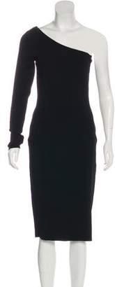 Diane von Furstenberg Bodycon One-Shoulder Midi Dress