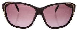 Chloé Chain-Embellished Gradient Sunglasses