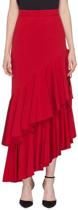 Hellessy 'Poppy' side split ruffle drape skirt