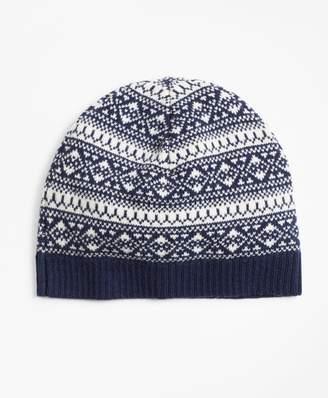 Brooks Brothers Fair Isle Wool-Blend Hat